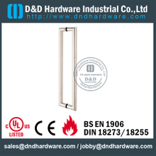 Stainless Steel 316 Tube Mitred Pull Handle for Double Entry Glass Door -DDPH002