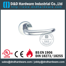 Stainless Steel 316 Popular Designer Lever Handle on Rose for Double Door -DDTH033
