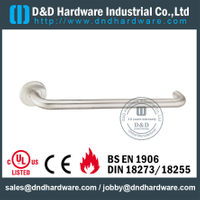 Stainless Steel Antirust Long Lever Disable Handle for Public Bathroom Door -DDTH037