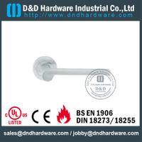 304 Grade Hollow External Lever Door Handle for Front Steel Doors-DDTH022
