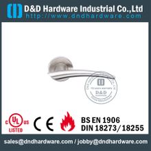 SUS304 Safety Cast Solid Lever Handle for Entry Metal Doors-DDSH043