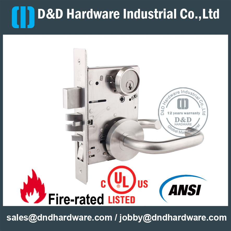 Grade 1 UL Listed Mortise Lock -D&D Hardware