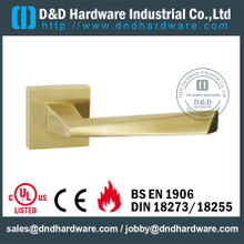 Antirust irregular fire-rated solid lever handle for Steel Door - DDSH169
