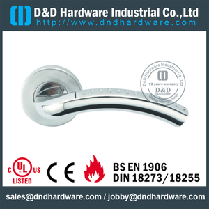 Stainless Steel 304 Thread Type Solid Lever Handle for Fire Doors-DDSH068