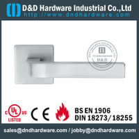 Stainless Steel 304 Interior Designer Solid Lever Handle for Fire Doors-DDSH203