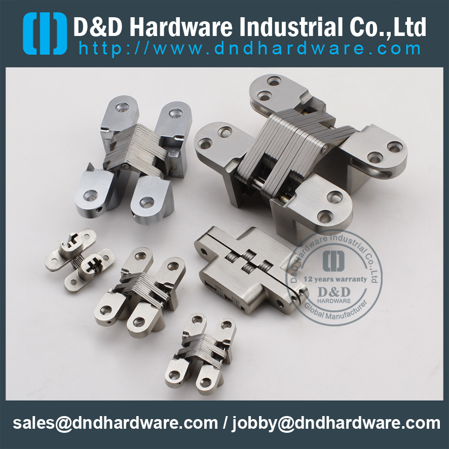 ZA-CC09 -34x140mm-Zinc Alloy Metal Door Heavy Duty Invisible Hinge