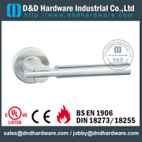 SUS316 fashion design round solid door handle for Commercial Door- DDSH165